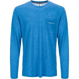 super.natural Movement Maglietta maniche lunghe Uomo, vallarta blue melange